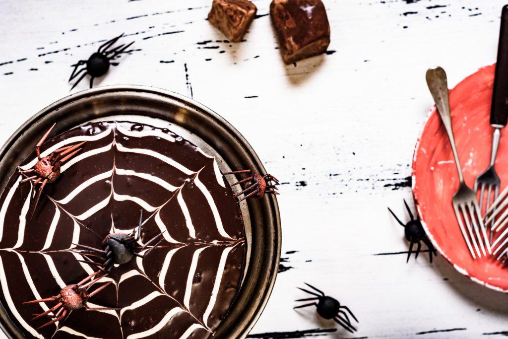 Halloween Cake with Mascarpone & Chocolate